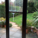 02 Aluminium Bi-fold door with in-glass blinds, Countesthorpe, Leicestershire
